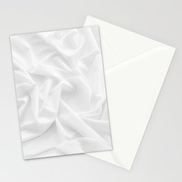 MINIMAL WHITE DRAPED TEXTILE Stationery Cards