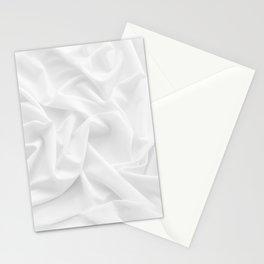 MINIMAL WHITE DRAPED TEXTILE Stationery Cards