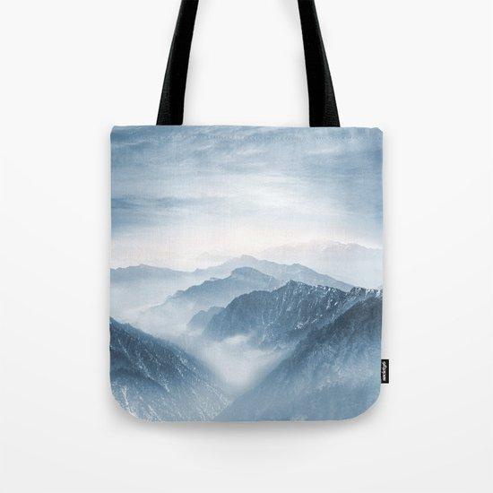 Cross Mountains Tote Bag