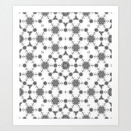 ancient sacred geomertry. seamless pattern. flower of life Art Print