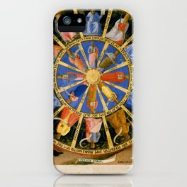 """Fra Angelico (Guido di Pietro) """"The Mystical Wheel (The Vision of Ezekiel)"""" iPhone Case"""