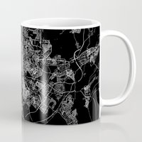 madrid Mugs featuring Madrid by Line Line Lines