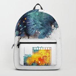 Oakland California Blue  skyline print Backpack