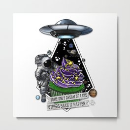 Good For Muffin Space Cake Metal Print
