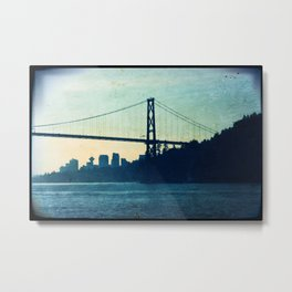 Lions Gate Bridge Vancouver Metal Print