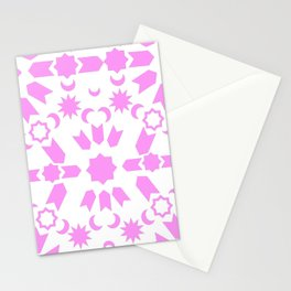 Pink Arabesque Stationery Cards