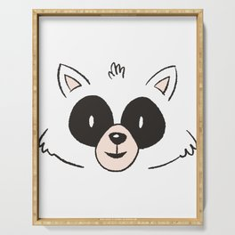 Raccoon Face Serving Tray