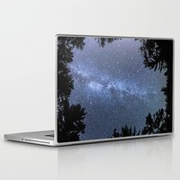 milky way Laptop & iPad Skins featuring Milky way  by FiveAcesMedia