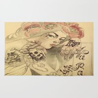 mucha Area & Throw Rugs featuring mucha cholo by paolo de jesus