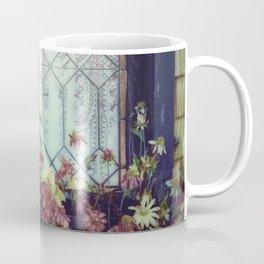 Vintage Window with Flowerbox Coffee Mug