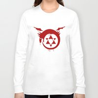 fullmetal Long Sleeve T-shirts featuring Ouroboros by KanaHyde