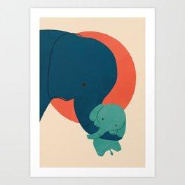 Baby Elephant 2 Art Print