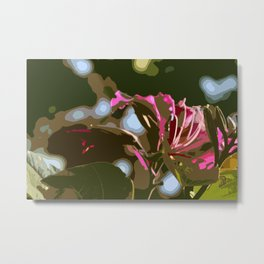 Hibiscus Abstract Metal Print
