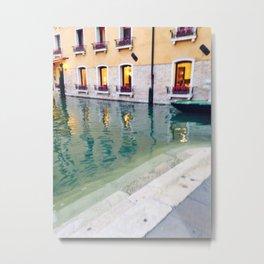 Venice Waterway Metal Print