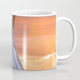 Southwest Teepee Sunset With Bird Coffee Mug