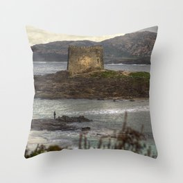 The Fisherman and the Tower Throw Pillow