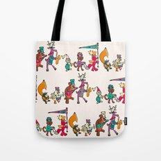 animal marching band Tote Bag