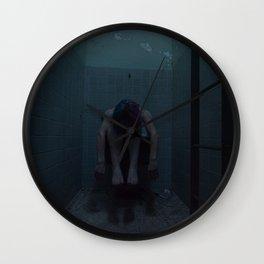 Feeling Dark Blue Wall Clock