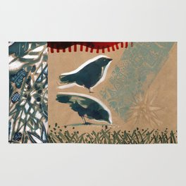 Birds on a Summer day. Rug