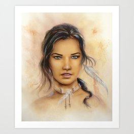 Native American Woman Art Print