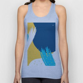 Bright colors modern abstract shapes design Unisex Tank Top