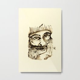 OLD MAN - from my sketchbook Metal Print