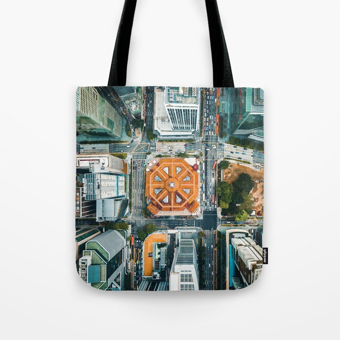 Aerial Cityscape View (Color) Tote Bag