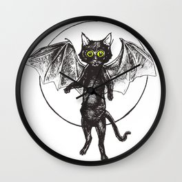 Batcat Rises Wall Clock