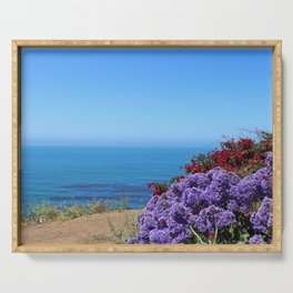 Flowers on a California Coast Serving Tray