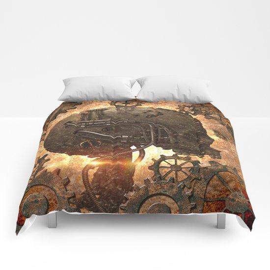 Steampunk, skull Comforters