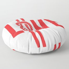 Love Knot (Red) Floor Pillow