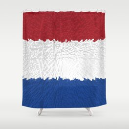 Extruded flag of the Netherlands Shower Curtain