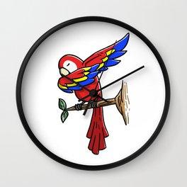 Funny Dabbing Parrot Bird Pet Dab Dance Wall Clock