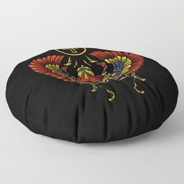Egyptian Scarab Ankh Ancient Symbol Floor Pillow