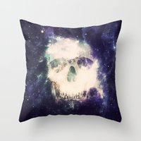 dead space Throw Pillows featuring Dead Space by Nicholas Redfunkovich