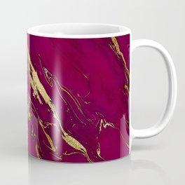 Marsala Marble and Gold Foil Coffee Mug