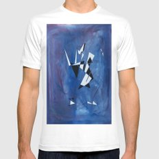 blue pattern art  MEDIUM Mens Fitted Tee White