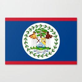 flag of belize-Belice, Belizean,Belize City,beliceno,Belmopan Canvas Print