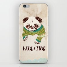 Hug a Pug iPhone & iPod Skin