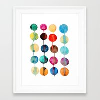 planets Framed Art Prints featuring Planets by Mille Dørge