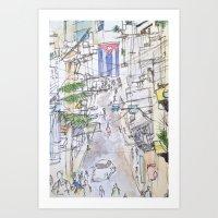 cuba Art Prints featuring Cuba by Leah Vaughn