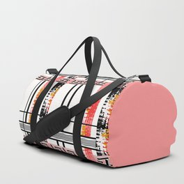 Vintage .Art . Intertwining colored bands . Duffle Bag