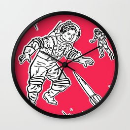 Astro Andy and Major Tom Wall Clock