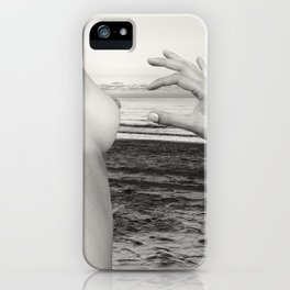 Lesbian Love at Sunrise on the beach iPhone Case