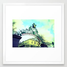 Park Gates Framed Art Print