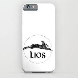 Black on White iPhone Case