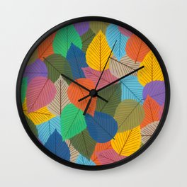 Leaves, Leaves, Leaves - Autumn is Coming - 57 Montgomery Ave Wall Clock