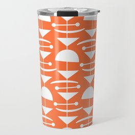 Retro Mid Century Modern Abstract Mobile 653 Orange Travel Mug