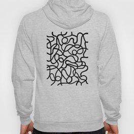 Organic River Lines - White-Black Hoody