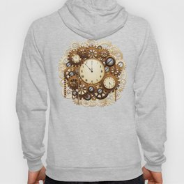 Steampunk Vintage Style Clocks and Gears Hoody